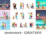 big set of different types of...   Shutterstock . vector #1282671835
