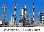 petrochemical plant  oil... | Shutterstock . vector #1282674895