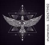 sacred geomtry. balck and white ... | Shutterstock .eps vector #1282675402