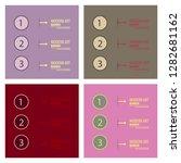 set of elements of infographics ... | Shutterstock .eps vector #1282681162