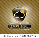 shiny emblem with sun behind...   Shutterstock .eps vector #1282709755