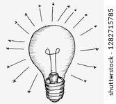 inspiration  lamp  sketch | Shutterstock .eps vector #1282715785