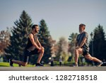 the young and old athletes... | Shutterstock . vector #1282718518