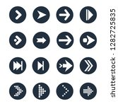 arrows flat vector icons set | Shutterstock .eps vector #1282725835