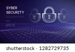 coputer internet cyber security ... | Shutterstock .eps vector #1282729735