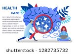 health care concept in flat... | Shutterstock .eps vector #1282735732