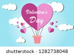 valentines day greeting card... | Shutterstock .eps vector #1282738048