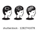 child head profile with mental... | Shutterstock . vector #1282741078