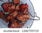 smoked meat isolated on the... | Shutterstock . vector #1282755715