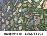 old stone road texture as nice... | Shutterstock . vector #1282756108