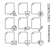 set of blank documents icons... | Shutterstock .eps vector #1282762822