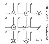 set of blank documents icons... | Shutterstock .eps vector #1282762828