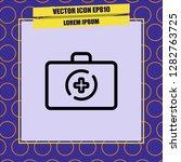 medicine briefcase icon vector | Shutterstock .eps vector #1282763725