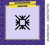 snowflake icon vector | Shutterstock .eps vector #1282763752