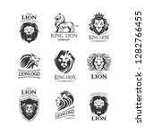 vector emblems with lions for... | Shutterstock .eps vector #1282766455