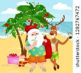 cheerful cartoon christmas... | Shutterstock .eps vector #1282767472