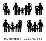 stick figure big family icon... | Shutterstock .eps vector #1282767958