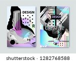 vector set of covers templates... | Shutterstock .eps vector #1282768588