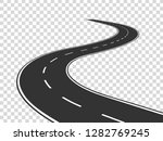 winding road. journey traffic... | Shutterstock .eps vector #1282769245