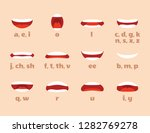 mouth animation. cartoon lips... | Shutterstock .eps vector #1282769278