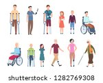 disabled persons. diverse... | Shutterstock .eps vector #1282769308