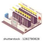 vector isometric server room or ... | Shutterstock .eps vector #1282780828
