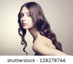 photo of beautiful young woman. ... | Shutterstock . vector #128278766