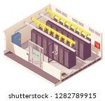 vector isometric server room or ... | Shutterstock .eps vector #1282789915