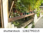 little colored vases in the... | Shutterstock . vector #1282790215