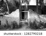 entrance door of an abandoned... | Shutterstock . vector #1282790218