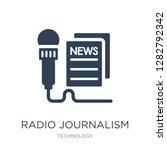 radio journalism icon vector on ... | Shutterstock .eps vector #1282792342