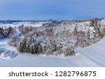 winter landscape with snowy...   Shutterstock . vector #1282796875