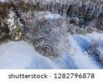 winter landscape with snowy...   Shutterstock . vector #1282796878