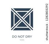 do not dry icon vector on white ... | Shutterstock .eps vector #1282803292