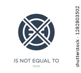 is not equal to icon vector on... | Shutterstock .eps vector #1282803502