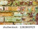 old mold brickwork decor... | Shutterstock . vector #1282803925