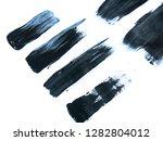 black acrylic paint stroke... | Shutterstock . vector #1282804012