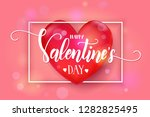 valentines day pink background...   Shutterstock .eps vector #1282825495