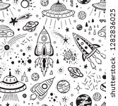 space background for kids.... | Shutterstock .eps vector #1282836025