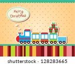 christmas train | Shutterstock .eps vector #128283665