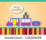 christmas train | Shutterstock .eps vector #128283698