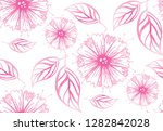 hand drawn doodle floral... | Shutterstock .eps vector #1282842028