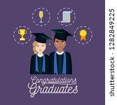 graduation celebration card... | Shutterstock .eps vector #1282849225