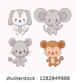 group of cute animals | Shutterstock .eps vector #1282849888