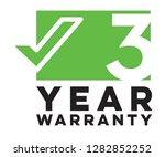 3 three year warranty logo sign ... | Shutterstock .eps vector #1282852252