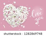 white apple blossom vector... | Shutterstock .eps vector #1282869748