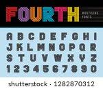 vector of modern alphabet... | Shutterstock .eps vector #1282870312