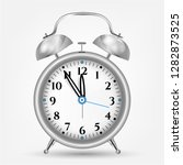 realistic silver alarm clock ... | Shutterstock .eps vector #1282873525