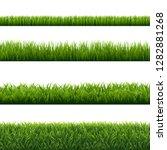 green grass borders set... | Shutterstock . vector #1282881268