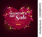 template design banner heart... | Shutterstock .eps vector #1282889455